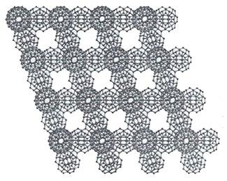 Формирование упорядоченной сети кластерных образований икосаэдрической формы